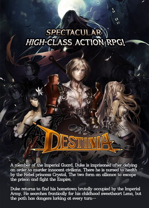 [GAMEVIL] DESTINIA IS LIVE for free on the Android Market!