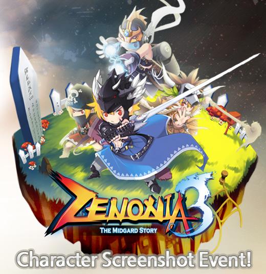 [GAMEVIL_EVENT] ZENONIA 3 Character Screenshot Event!